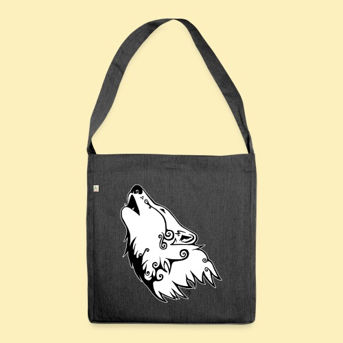 Le Loup de Neved (version contour blanc) - Sac bandoulière 100 % recyclé