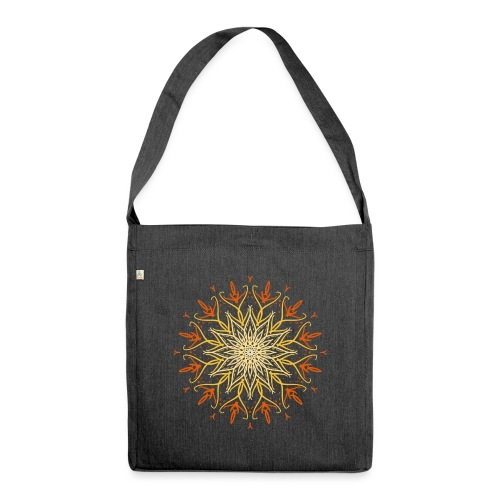 Mandala of fire - Shoulder Bag made from recycled material