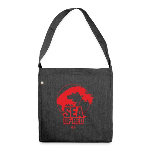 Sea of red logo - red - Shoulder Bag made from recycled material
