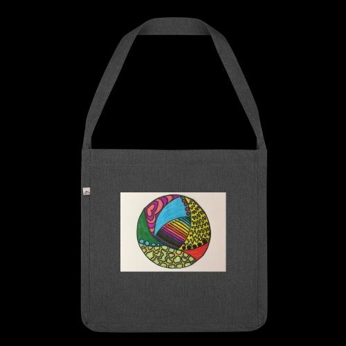circle corlor - Skuldertaske af recycling-material