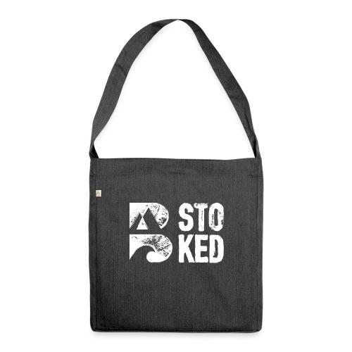 bstoked logo white - Shoulder Bag made from recycled material