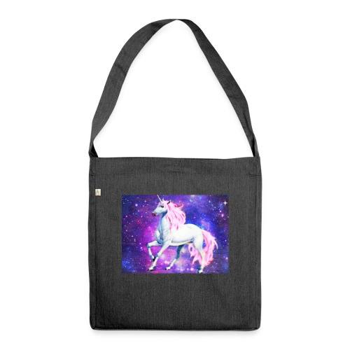 Magical unicorn shirt - Shoulder Bag made from recycled material