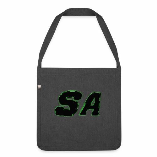 Svart SA Logo - Axelväska av återvinningsmaterial