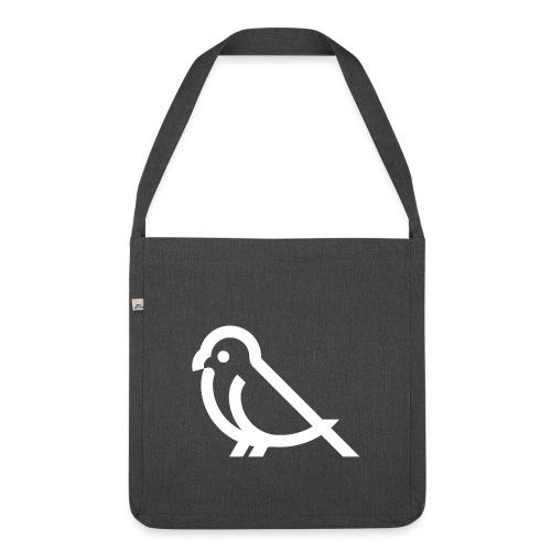bird weiss - Schultertasche aus Recycling-Material