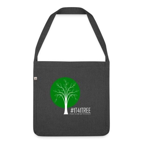 1T41Tree - ein verk. Shirt = ein Baum - Schultertasche aus Recycling-Material