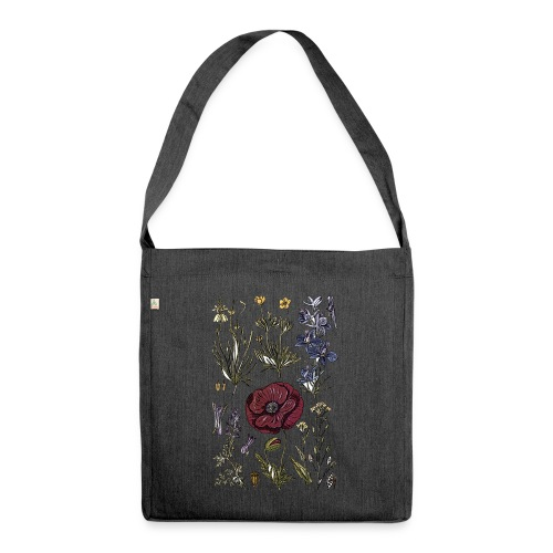 Wild flowers - Shoulder Bag made from recycled material