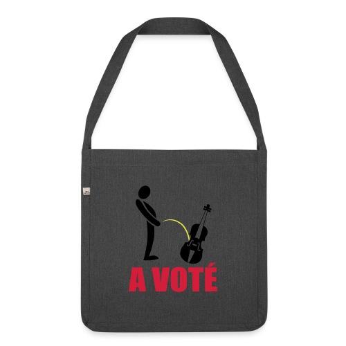A voté - Sac bandoulière 100 % recyclé