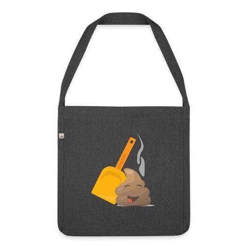 Funny Poop Emoji - Shoulder Bag made from recycled material