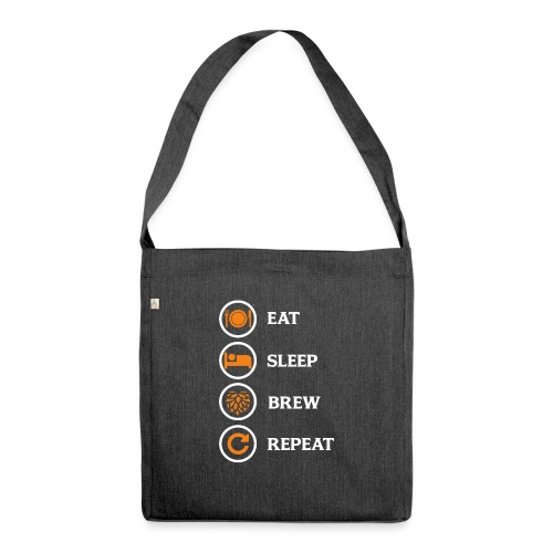 Eat Sleep Brew Repeat Brewers Gift - Shoulder Bag made from recycled material
