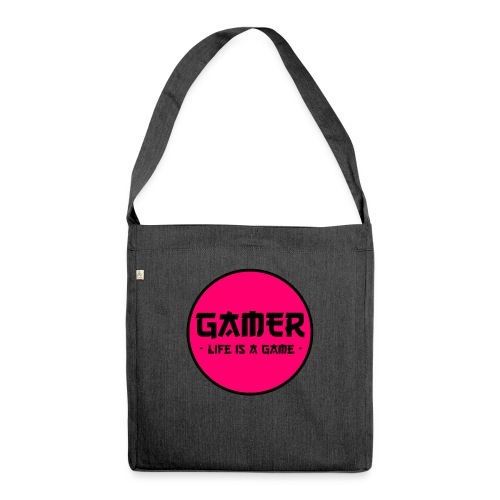 Gamer Life is a Game - Schultertasche aus Recycling-Material