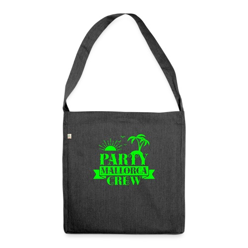 Mallorca PARTY Crew - Schultertasche aus Recycling-Material