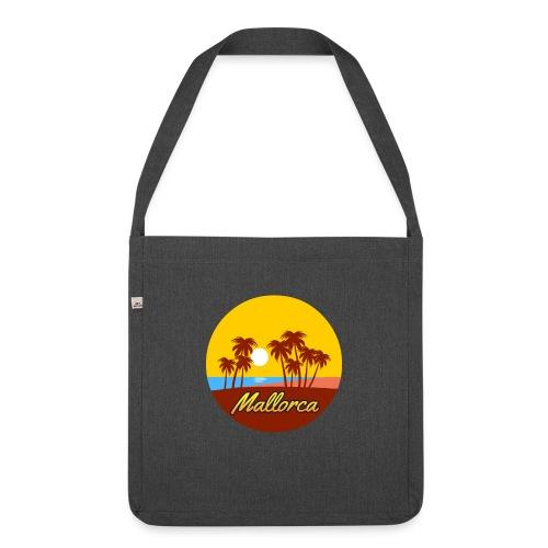 Mallorca - Als Geschenk oder Geschenkidee - Schultertasche aus Recycling-Material