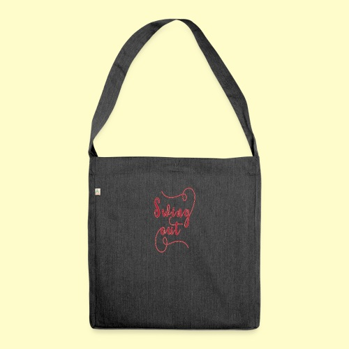 Swing Out Lindy Hop Vintage - Swing Retro - Schultertasche aus Recycling-Material