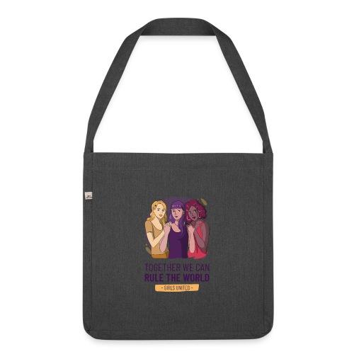 t shirt design generator featuring three women - Bandolera de material reciclado