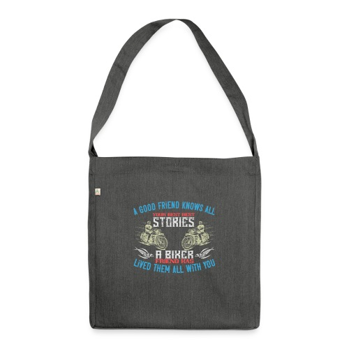 Biker stories. - Shoulder Bag made from recycled material