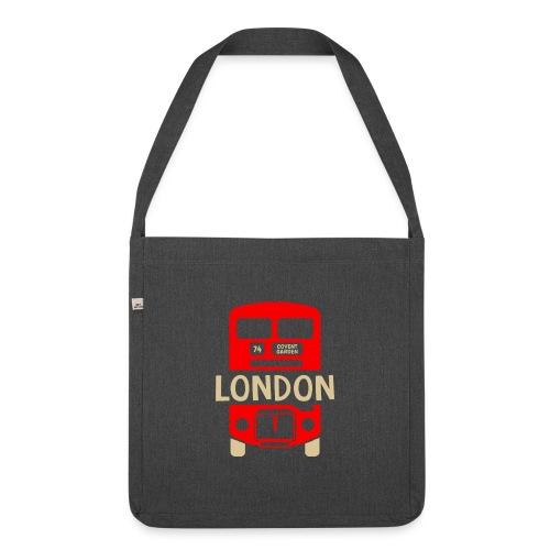 London Bus Roter Doppeldecker London Fan Souvenir - Schultertasche aus Recycling-Material
