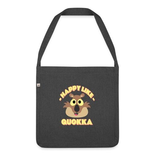 Happy like a quokka - Animal, love cute quokka - Sac bandoulière 100 % recyclé