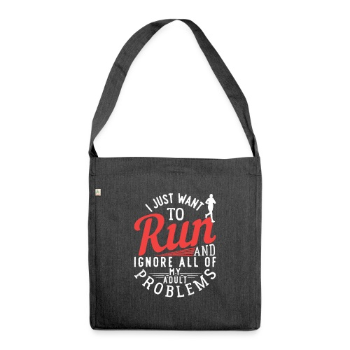 I Just Want To Run   Marathon - Schultertasche aus Recycling-Material