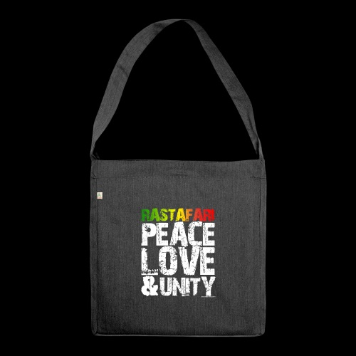 RASTAFARI - PEACE LOVE & UNITY - Schultertasche aus Recycling-Material