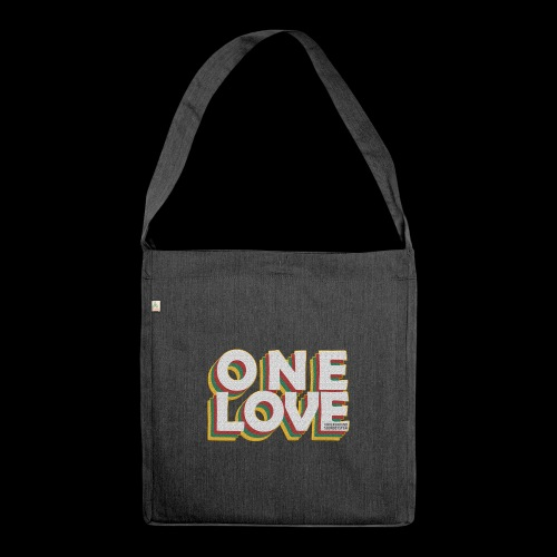 ONE LOVE - Schultertasche aus Recycling-Material