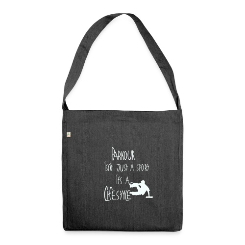 Parkour is life - Schultertasche aus Recycling-Material