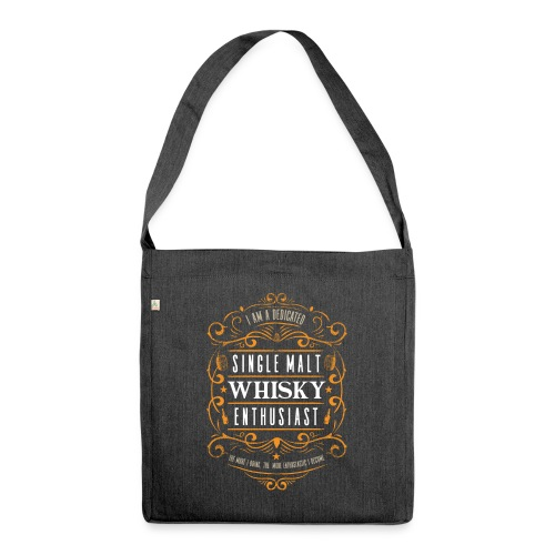 Single Malt Whisky Enthusiast - Schultertasche aus Recycling-Material