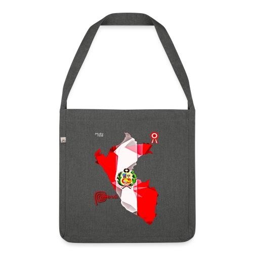 Mapa del Peru, Bandera y Escarapela - Shoulder Bag made from recycled material