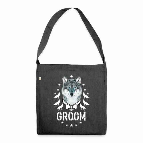 161 Wolf JGA GROOM Wolfpack Sterne - Schultertasche aus Recycling-Material