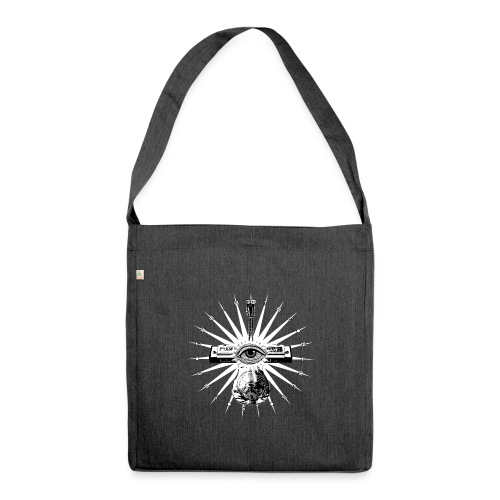 Blues Is The Truth - white star - Shoulder Bag made from recycled material