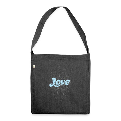 LOVE CON DECORI - Borsa in materiale riciclato
