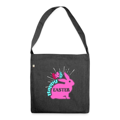 Happy Easter - Frohe Ostern - Schultertasche aus Recycling-Material