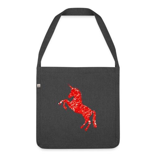 unicorn red - Torba na ramię z materiału recyklingowego