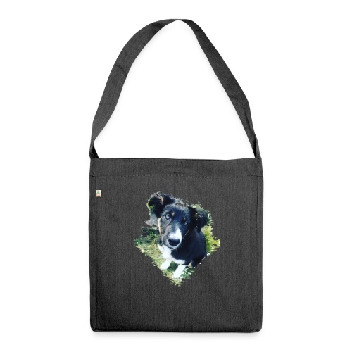 colliegermanshepherdpup - Shoulder Bag made from recycled material