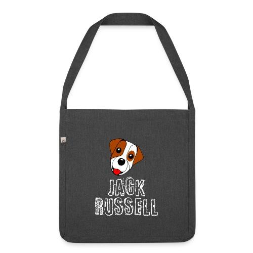 Jack Russell, der perfekte Terrier - Schultertasche aus Recycling-Material