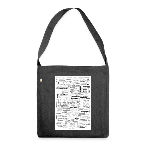 Word Cluster - Shoulder Bag made from recycled material