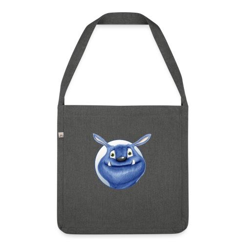 blaues Monster - Schultertasche aus Recycling-Material