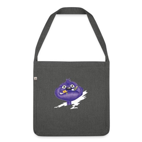 das lila Monster - Schultertasche aus Recycling-Material