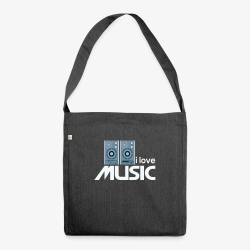 Amo la música 02 - Bandolera de material reciclado