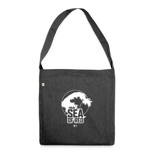 Sea of red logo - white - Shoulder Bag made from recycled material