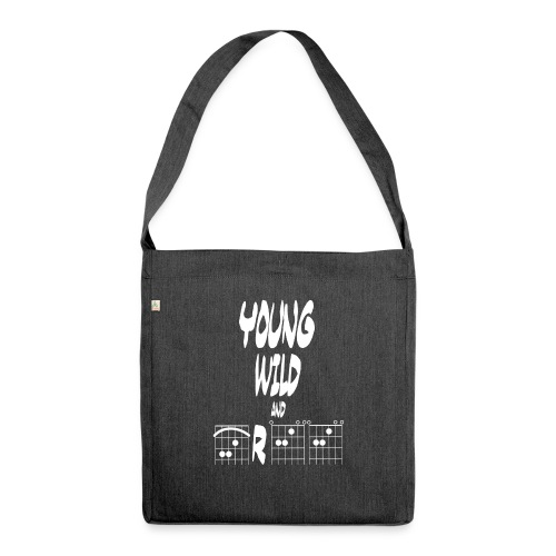Young wild and free in guitar chords - Shoulder Bag made from recycled material