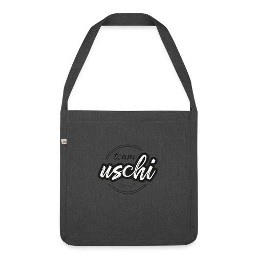 Team Uschi Schwarz original - Schultertasche aus Recycling-Material