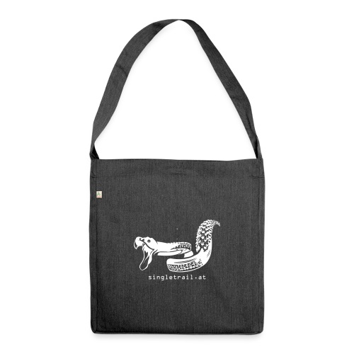 Single Trail Snake in Weiss - Schultertasche aus Recycling-Material