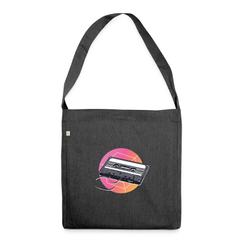 80s Vintage Cassette - Shoulder Bag made from recycled material