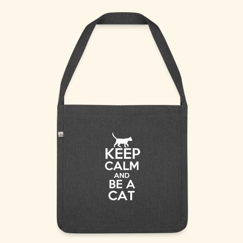 Keep Calm Katzen T-Shirt Englisch - Schultertasche aus Recycling-Material