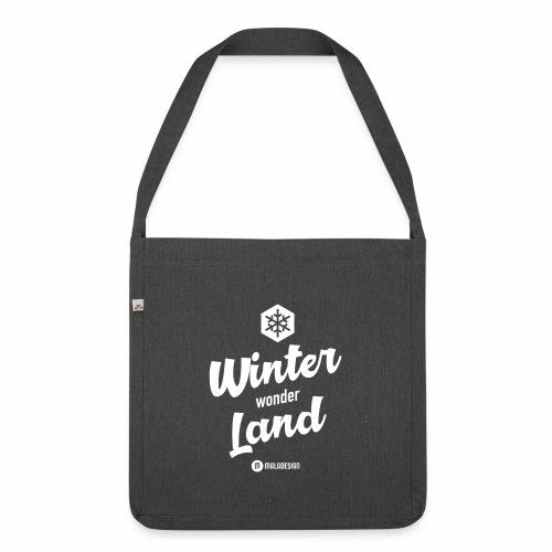 Winter Wonder Land - Olkalaukku kierrätysmateriaalista
