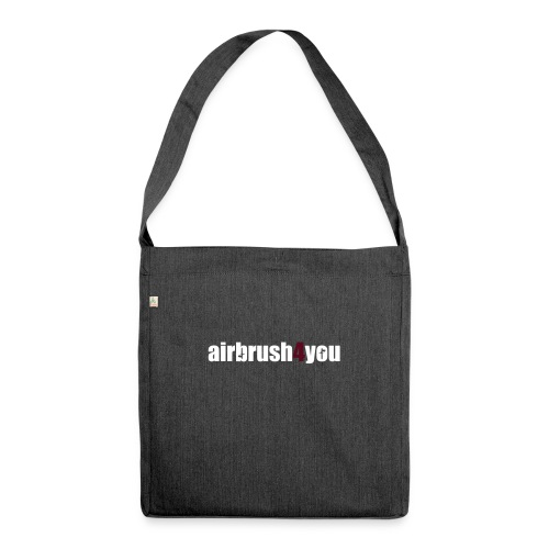 Airbrush - Schultertasche aus Recycling-Material