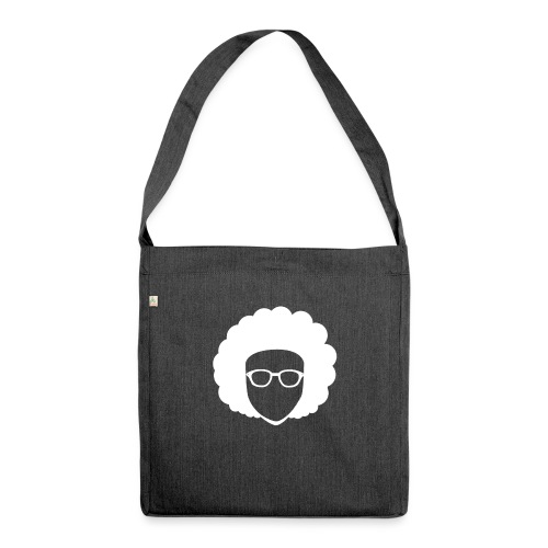 Afro Nerd - nerdy - Shoulder Bag made from recycled material