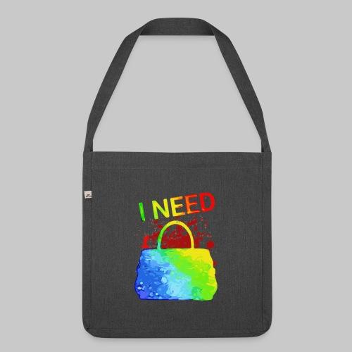 I need my bag Ich liebe meine Handtasche 2reborn - Schultertasche aus Recycling-Material