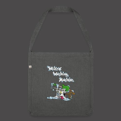 Wicked Washing Machine Cartoon and Logo - Schoudertas van gerecycled materiaal