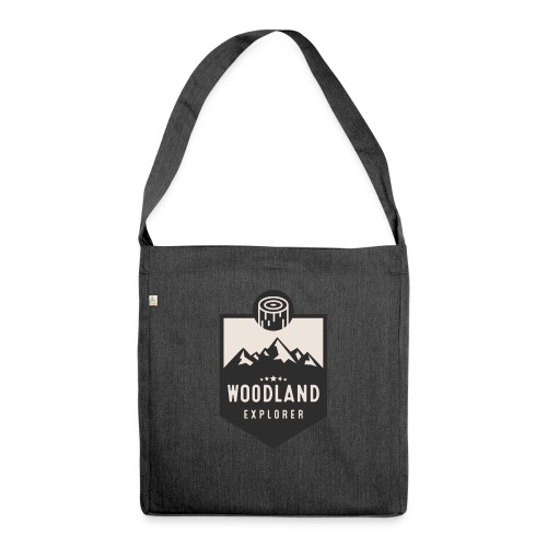 Woodland Explorer Crest - Shoulder Bag made from recycled material